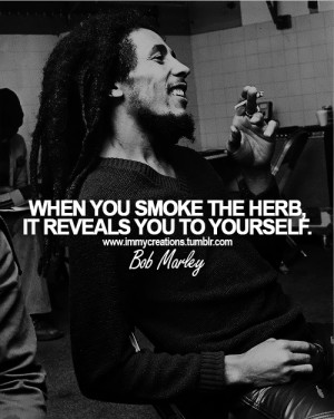 Bob Marley Weed Quotes and Sayings