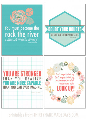 8x10 printable inspirational quotes from thirty handmade days