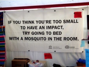 Change the world – If you think you are too small to have an impact ...