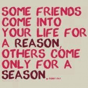 ... Life For A Reason Others Come Only For A Season - Friendship Quote
