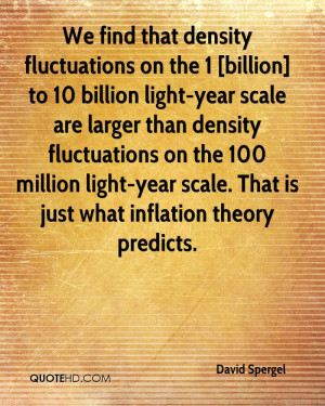 We find that density fluctuations on the 1 [billion] to 10 billion ...