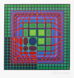 Victor Vasarely Picture It s focal point is the bottom left corner