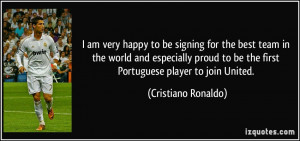 am very happy to be signing for the best team in the world and ...
