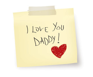 Love You Daddy Vector Graphic — fathers day, drawing, note