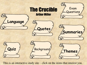 The Crucible Arthur Miller - PowerPoint by Levone