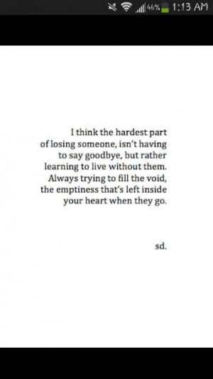 it's so hard to say goodbye