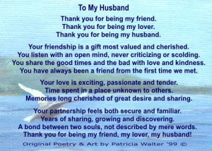 wonderful husband quotes | Who, in your life, would you like to thank ...