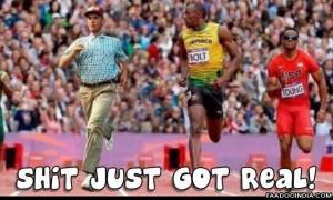 Forrest Gump running with Usain Bolt