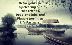 Detox your life by clearing out Fake friends, Dead-end jobs, and ...
