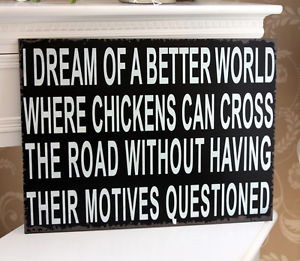 ... -plaque-picture-shabby-vintage-gift-chic-chickens-dream-quote-print
