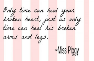 Time heals everything… lol