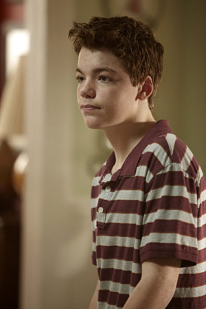 Another redhead is Gabriel Basso, who will be in Super 8:
