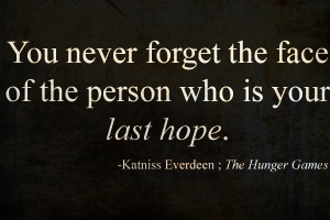 Hunger Games Quote For Essay?