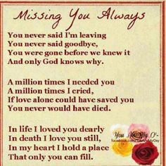 Missing you always RIP Mom