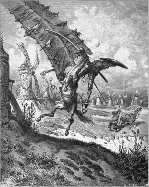 Don Quixote - Miguel de Cervantes - Tilting at windmills by Gustave ...