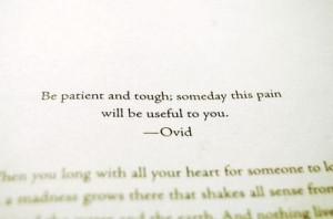 inspiration, life, pain, patient, quote, text, tough, wisdom