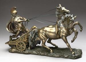 Roman Chariot Sculpture...