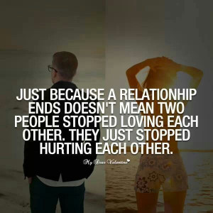 Stopped hurting each other