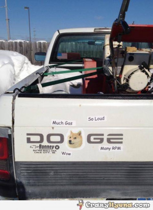Doge Meme On Dodge Truck Funny on Dodge Truck Sayings
