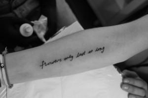fashion, flowers, quote, tattoo, tatuagem