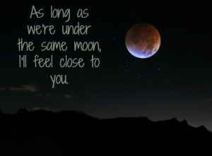 love, moon, photography, quote, quotes, sweet
