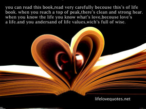 Quotes About Life And Love: What Life Book Telling Us A Lovely Quote ...
