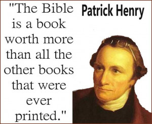 Patrick Henry . Some Churches feel we should only use the New ...