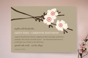 Apple Blossom Wedding Invitations by annie clark | Minted