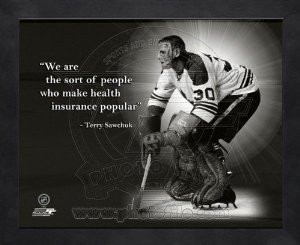 Amazon.com: Terry Sawchuk Detroit Red Wings Pro Quotes Framed ...