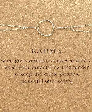 Home Gift Types Gift Ideas Specialty Gifts Karma Bracelet
