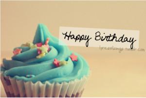 ... birthday, quote, happy, cake, birth, cupcake, blue, birthday, cup