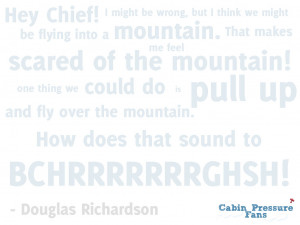 Cabin Pressure Quote Wallpaper - Douglas