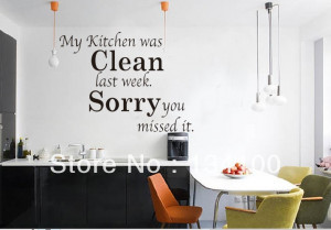 English-quotes-words-saying-My-kitchen-was-clean-waterproof-removable ...