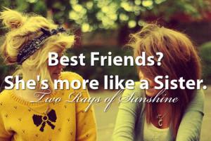 best friend, best friends, blonde, bow, brunette, family, girl, girls ...