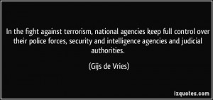 In the fight against terrorism, national agencies keep full control ...