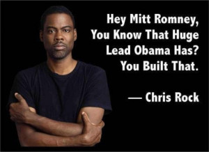 Hey Mitt Romney, you know that huge lead Obama has? You built that.