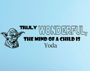 Star Wars Yoda With Lightsabers Saying Wall Decals