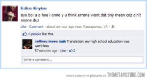 Funny photos funny Facebook post grammar correction