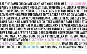 Eat the damn chocolate cake