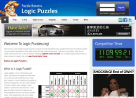 logic puzzles play online or print your own for free logic puzzles ...