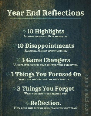 Year End Reflections