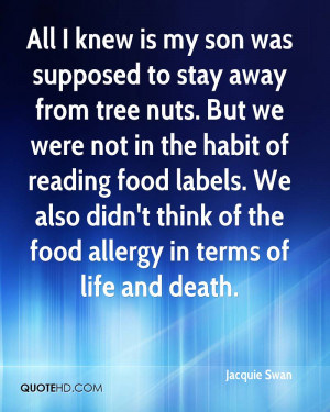 All I knew is my son was supposed to stay away from tree nuts. But we ...