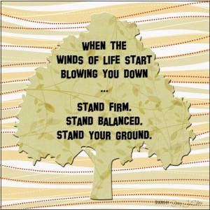 Standing Firm in an Unbalanced World