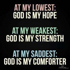 God is my Hope, Strength and Comforter. Catholic. Catholics. Christian ...