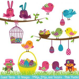 Easter Birds Clipart Clip Art, Easter Spring Birds Clip Art Clipart ...