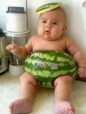 Baby Clothes Watermelon Funny