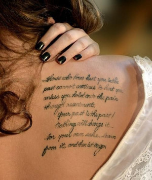 Cute girl quote tattoo ideas