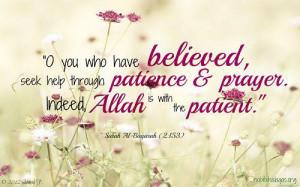 Seek help through patience and prayer.