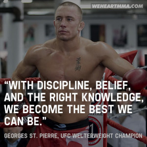 With discipline, belief, and the right knowledge, we become the best ...