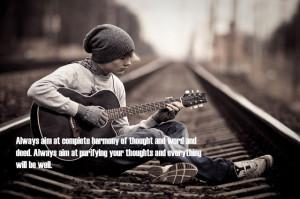 Always aim at complete harmony